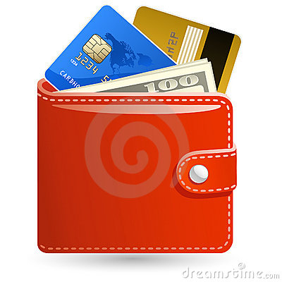 Free Wallets With Money Royalty Free Stock Photos - 12819578