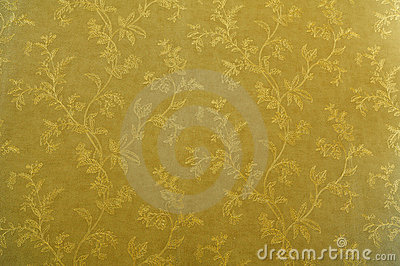 Wallpaper with golden texture
