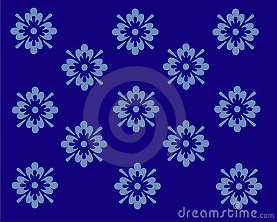 Wallpaper design in blue