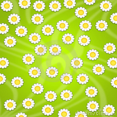 Wallpaper design with daisies