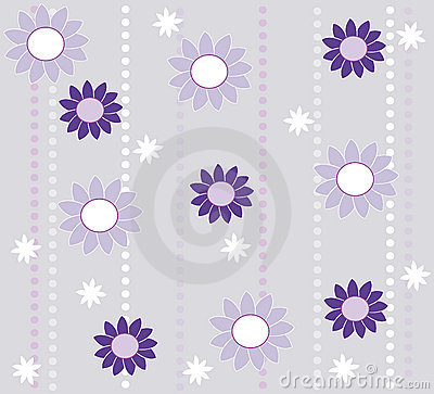 Wallpaper design with flowers