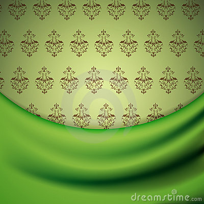 Wallpaper and drapery
