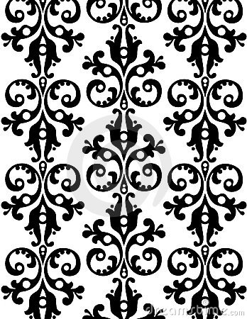 Wallpaper with ornaments