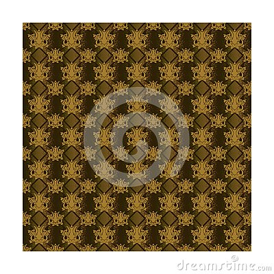 Wallpaper retro brown Vector Illustration