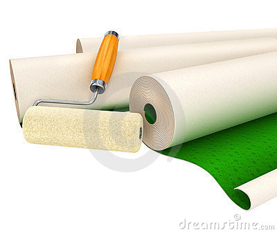Wallpapers and roller tool for house repairing