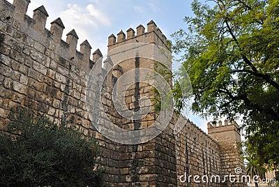 Walls of the alcazar