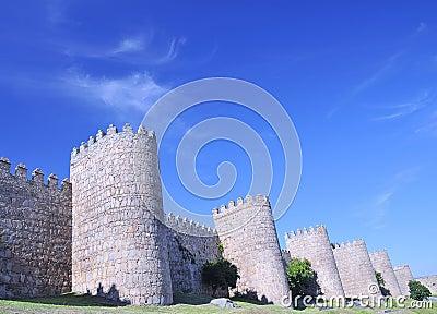 Walls of Avila, Spain.
