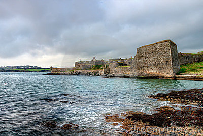 Walls and bastions of Charles Fort.Kinsale-Ireland