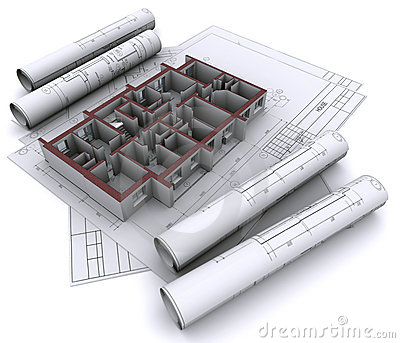 Walls on construction drawings