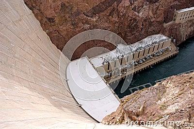 Walls of Hoover Dam