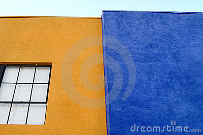 Walls of Orange and Blue