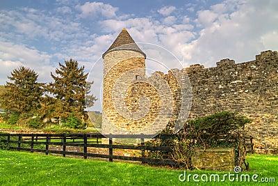 Walls of Parkes Castle