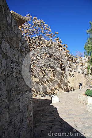 The walls and paths of old city Jerusalem