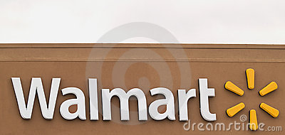 Walmart sign Editorial Photography