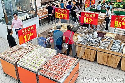 Walmart in Zhongshan China Editorial Image