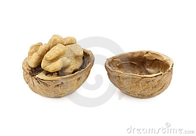 Walnut with clipping path
