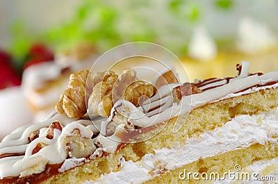 Walnut on Nut Cake