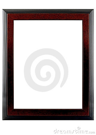 Free Walnut Solid Wood Photo Frame Royalty Free Stock Image - 2555416