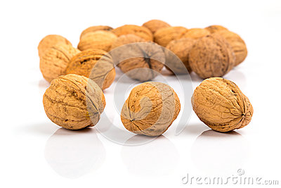 Walnuts close up