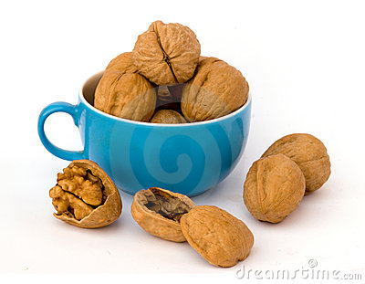 Walnuts in cup