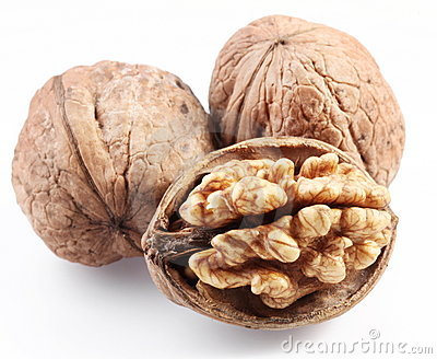 Walnuts isolated.