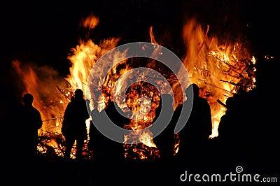 Walpurgis Night bonfire