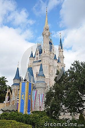 мир walt Золушкы Дисней замока Редакционное Стоковое Фото
