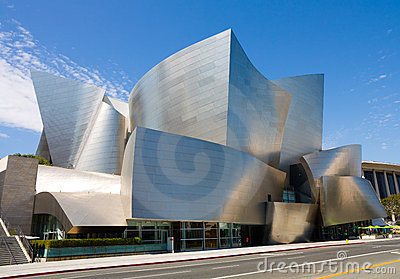 Walt Disney Concert Hall Editorial Stock Photo