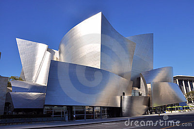 Walt Disney Concert Hall Editorial Photography