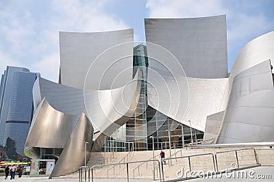 Walt Disney Concert Hall in Los Angeles Editorial Stock Photo