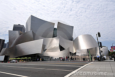 Walt Disney Concert Hall in Los Angeles Editorial Image