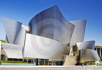 Walt Disney Concert Hall in Los Angeles Editorial Stock Image