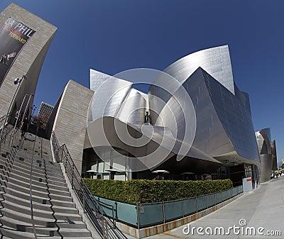 Walt Disney Concert Hall in Los Angeles, CA Editorial Photo
