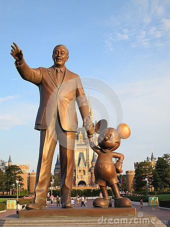 Walt Disney and Mickey Mouse Editorial Stock Photo