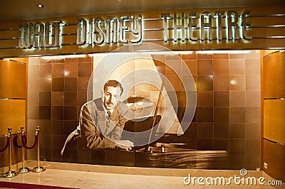 Walt Disney Theatre Editorial Stock Image