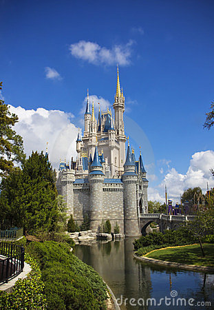 Walt Disney World Cinderella Castle Editorial Stock Photo