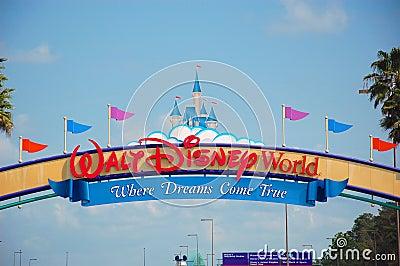 Walt Disney World Entrance Editorial Photo
