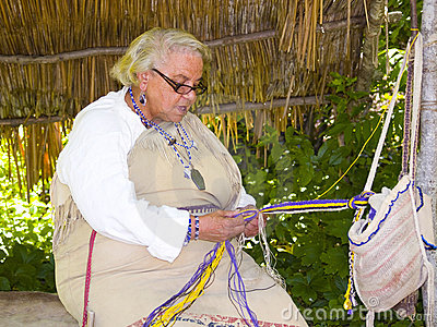 Wampanoag Indian Woman Editorial Stock Image
