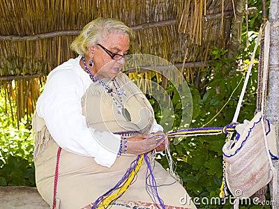 Wampanoag Indian Woman Editorial Stock Image