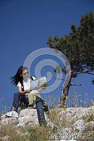Wandelaar met kaart