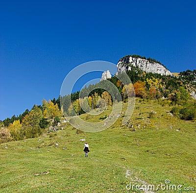 Wandelaar op de bergen