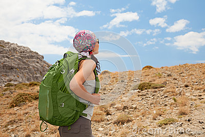 Wandelende vrouw