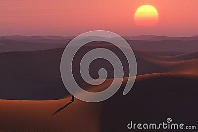 Wanderer in the desert