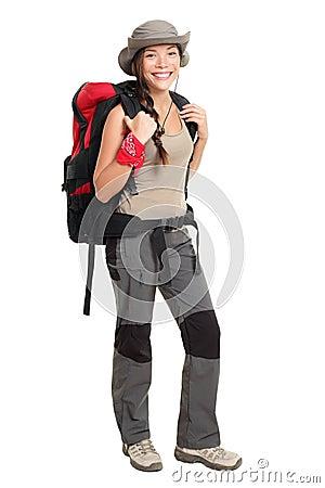 Wandererfrau trennte