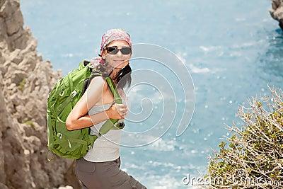 Wandern der Frau