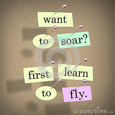 Want to Soar First Learn to Fly Words Saying Quote