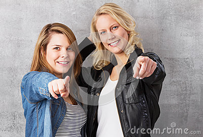 We want you - girls pointing with finger