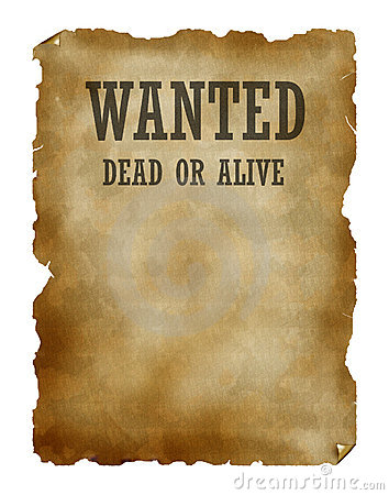 Wanted Dead Or Alive Royalty Free Stock Image Image 2155376