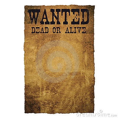 Free Wanted Dead Or Alive Stock Image - 4213731