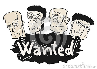 Wanted faces draw